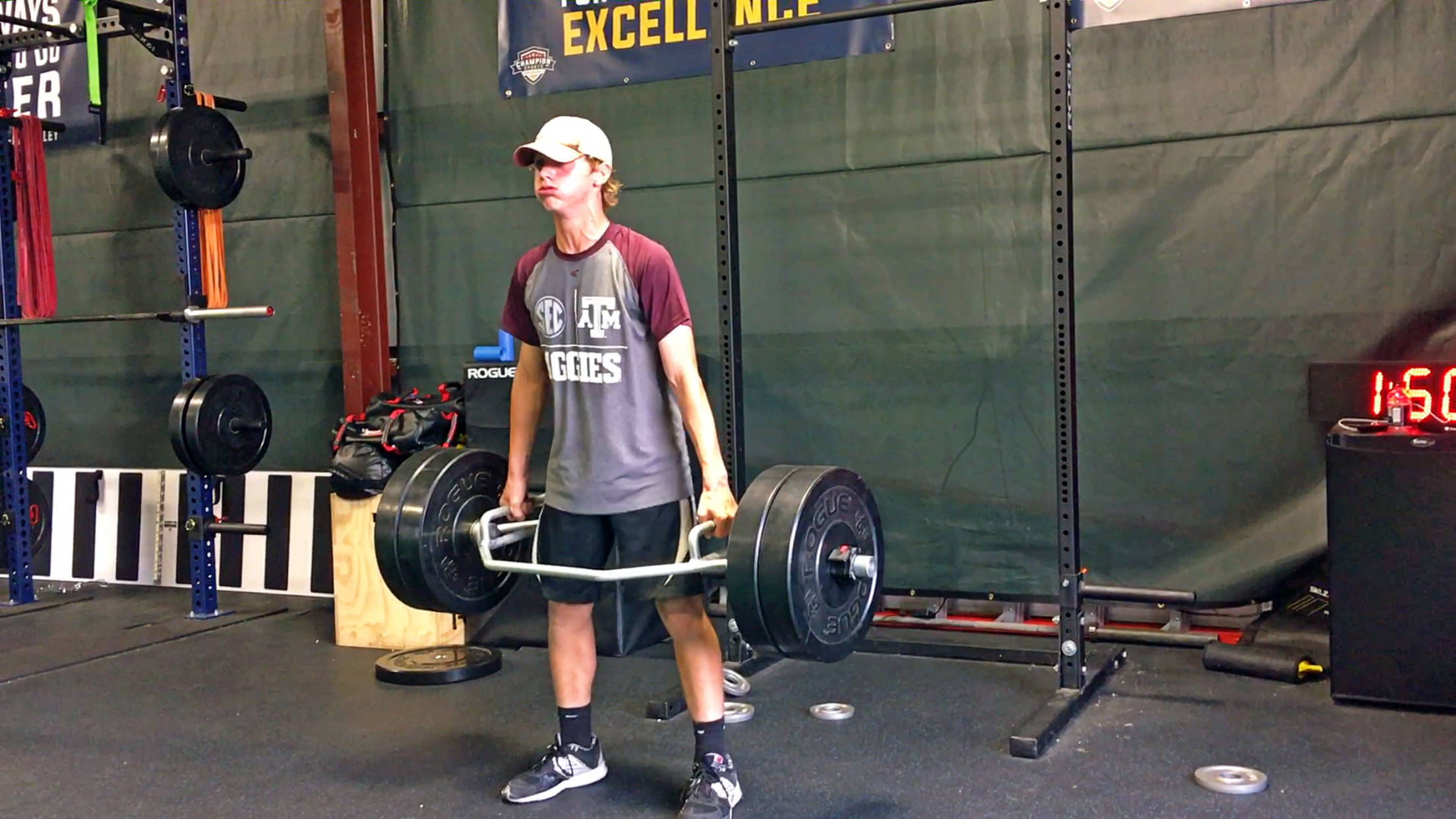 Jake Jennings with the trap bar deadlift during the Champion Sports Performance Summer Training Program